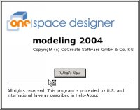 CoCreate Modeling intro screen